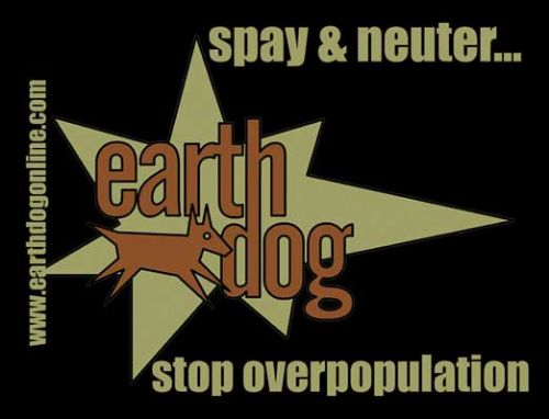 earthdog Logo Sticker