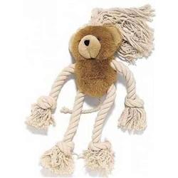 Ethical Pet Bear Plush & Rope Dog Toy