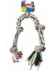 Ethical Pet Tuggin Tee 5 Knot Rope 25 Inches Long