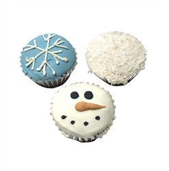 Snowy Mini Cupcakes