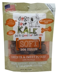 Dogs Love Kale Soft Treats with Moringa, Beef & Apple, 4 oz.