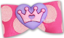 Pink Dots Purple Heart
