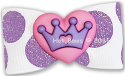 Purple Dots Pink Heart