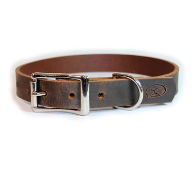 Brown Thick Leather Dog Collar