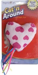 Cat N` Around Ribbon Heart Catnip Toy