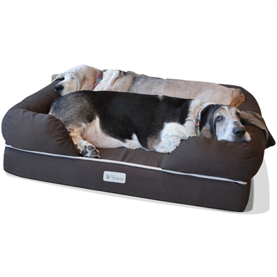 Ultimate Dog Bed & Lounge (Large, Brown)