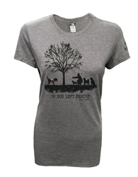 Women's cut No Dog Left Behind Tee