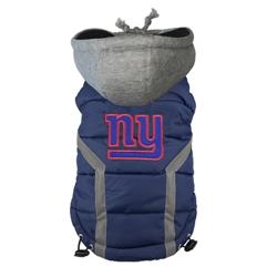 New York Giants Dog Puffer Vest by Hip Doggie