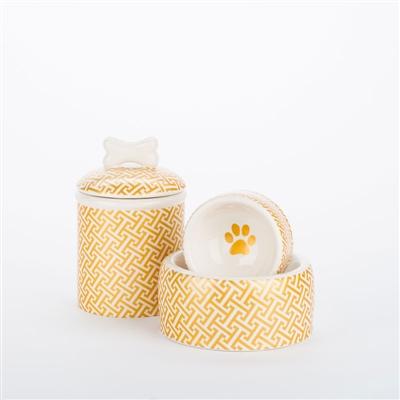 Gold Trellis Bowls & Treat Jars Collection