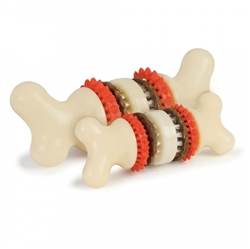 Sportsmen Bristle Bone® Dog Chew Toy w/ Rawhide Treats