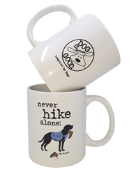 Never Hike Alone 4 pk mug set