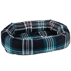 Donut Bed Glen Meadow Tartan Microvelvet