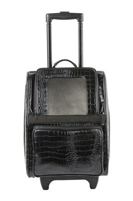 Rio Bag On Wheels - Black Croco