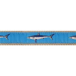 "Lt. Blue Mako Shark - 1.25"" Collars, Leashes and Harnesses"