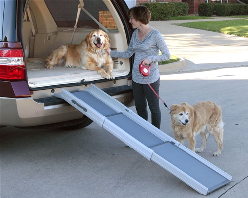 Dog Ramp - Deluxe Tri-Scope Adjustable Pet Ramp - 28 to 70 inches
