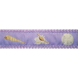 """Lilac Seashell - 1.25"""" Collars, Leashes and Harnesses"""