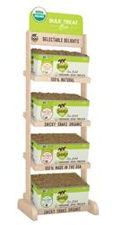 Snicky Snaks Organic Treat Bar - Display + 1 box of each flavor 12 lb. bulk