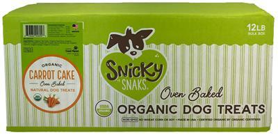 Snicky Snaks USDA Organic Carrot Cake Treat, 12lb Bulk Box
