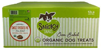 Snicky Snaks USDA Organic Sweet Potato Pie Treat, 12lb Bulk Box