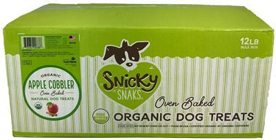 Snicky Snaks USDA Organic Apple Cobbler Treat, 12lb Bulk Box
