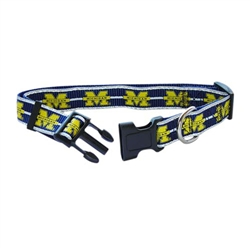 Michigan Wolverines Dog Collars & Leashes - Reflective