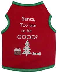 Santa, too late to be good?