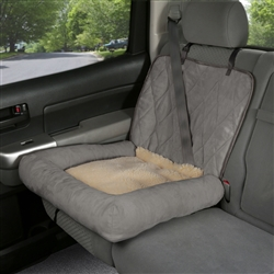 Car Cuddler - Small (brown or grey)  pet seat cover