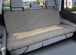 Car Cuddler - Large (brown or grey)  pet seat cover