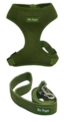 Olive Green Ultra Comfort Mesh Harness Vests by Hip Doggie