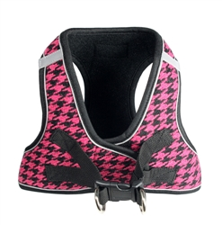 Pink EZ Reflective Houndstooth Harness Vest by Hip Doggie
