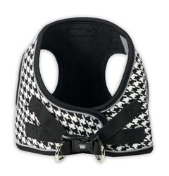 Black EZ Reflective Houndstooth Harness Vest