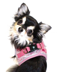 Pink EZ Reflective Royal Elegance Harness Vest by Hip Doggie