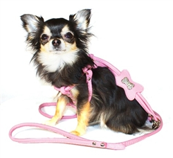 Pink Bone Designer Charm Step-in Harness by Hip Doggie