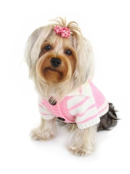 Pink HD Crown Cardigan Sweater by Hip Doggie