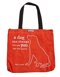 A Dog Can Change the Way You See the World tote