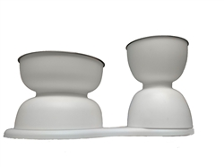 Elevated Removable Double Bowl Set for Dog or Cat by DFBeautifool PET