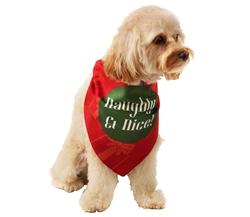 Naughty & Nice Christmas Bandana by Dog Fashion Living