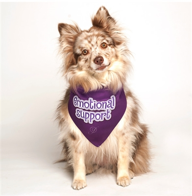 Emotional Support Dog Bandana by Dog Fashion Living
