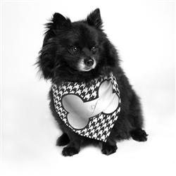 Silver Bone Dog Bandana by Dog Fashion Living