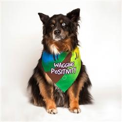 Wagging Positivity Dog Bandana by Dog Fashion Living