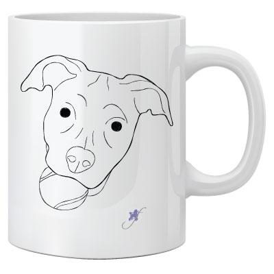 Dog With A Ball Two-Sided Mug by Dog Fashion Living