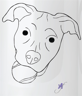 Dog With A Ball Two-Sided Mug by Dog Fashion Living