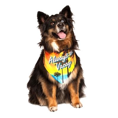 Always on Vacay Dog Bandana by Dog Fashion Living