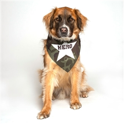 Hero Military Dog Bandana by Dog Fashion Living