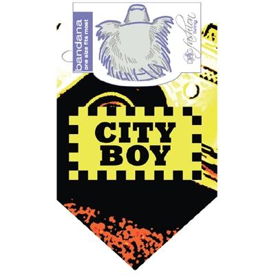City Boy Dog Bandana by Dog Fashion Living