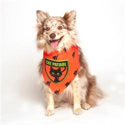 Halloween Cat Patrol Dog Bandana by Dog Fashion Living