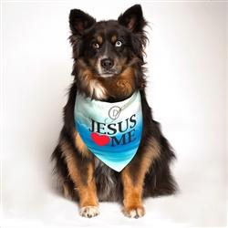 Jesus Loves Me Dog Bandana by Dog Fashion Living