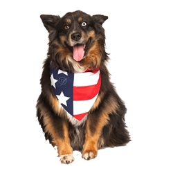 American Flag Dog Bandana by Dog Fashion Living