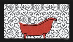 Dog Bathing Mat Classic Tub Design by Dog Fashion Spa
