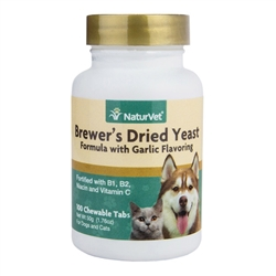 Brewer's Dried Yeast With Garlic Chewable Tablets